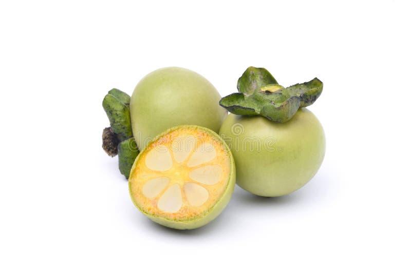 De vruchten van Diospyrosmollis royalty-vrije stock foto's