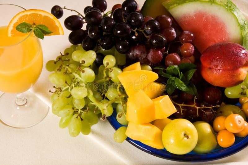 De Vruchten van het ontbijt royalty-vrije stock afbeeldingen