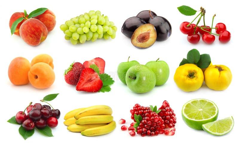 De vruchten van het snoepje en van het sap stock afbeeldingen