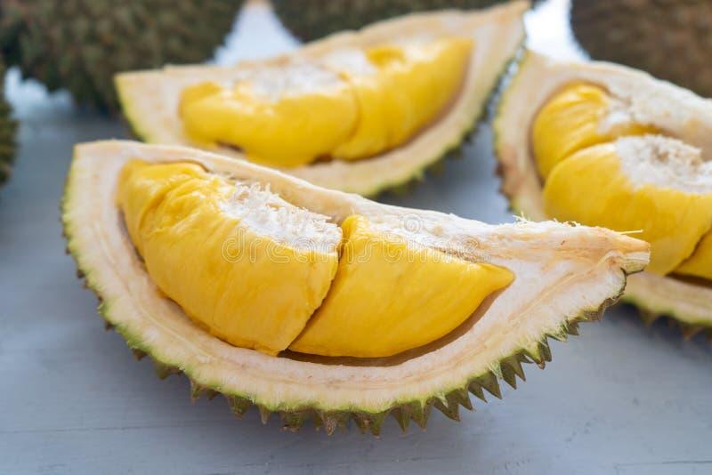 De vruchten van Maleisië beroemde durian musangkoning stock afbeelding