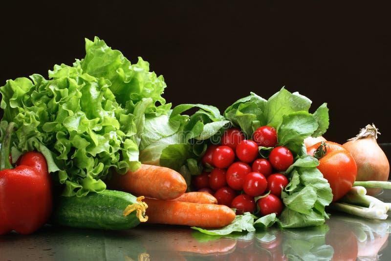 De vruchten van verse Groenten en andere levensmiddelen. stock afbeelding