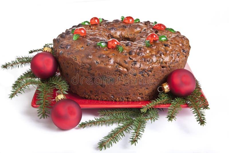 De Vruchtencake van Kerstmis royalty-vrije stock afbeeldingen