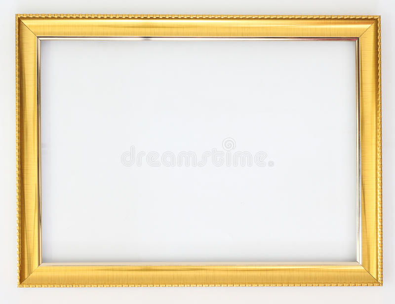Or de vue sur un fond blanc photos stock