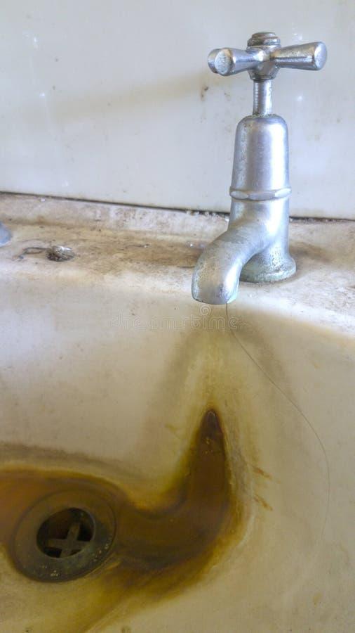 De vuile Close-up van het Handbassin royalty-vrije stock afbeelding
