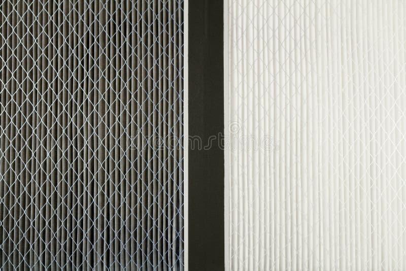 De vuile en Schone Filters van de Lucht stock fotografie