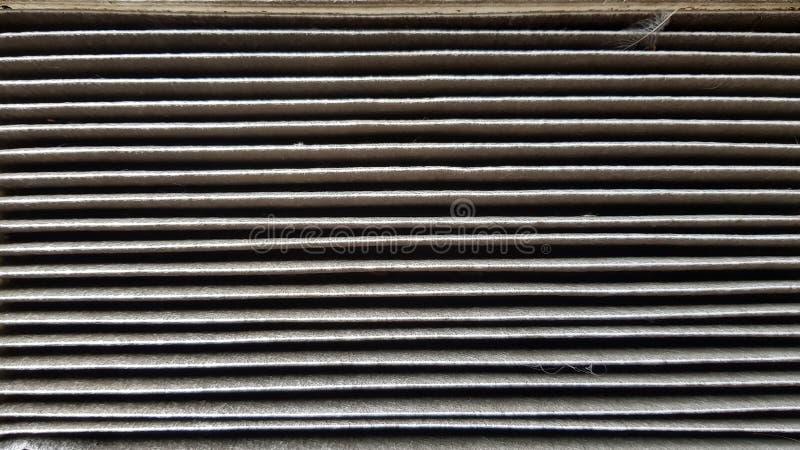 De vuile Filter van de Lucht van de Auto royalty-vrije stock afbeelding