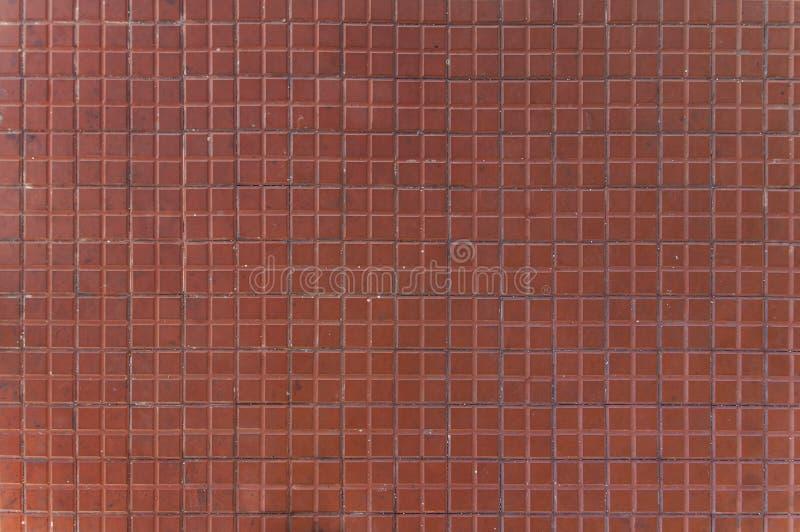 De vuile rode steen van het vloerpatroon zoals architectuurtextuur royalty-vrije stock foto