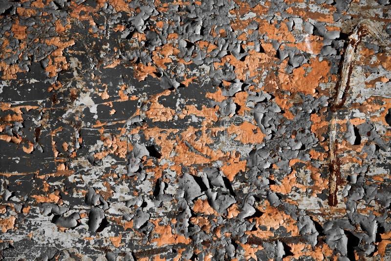 De vuile schil schilderde roestige oppervlaktetextuur stock fotografie