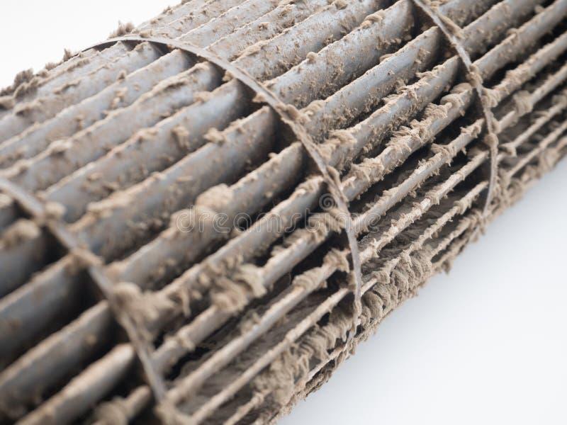 De vuile ventilator van de eekhoornkooi in airconditioner royalty-vrije stock foto's