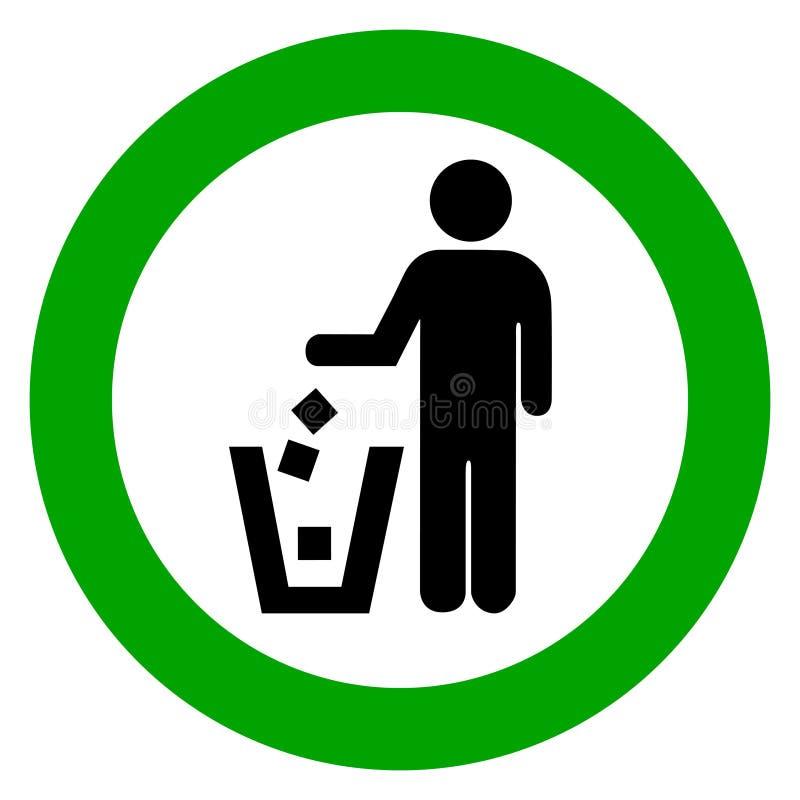 De vuilnisbak van het gebruik royalty-vrije illustratie