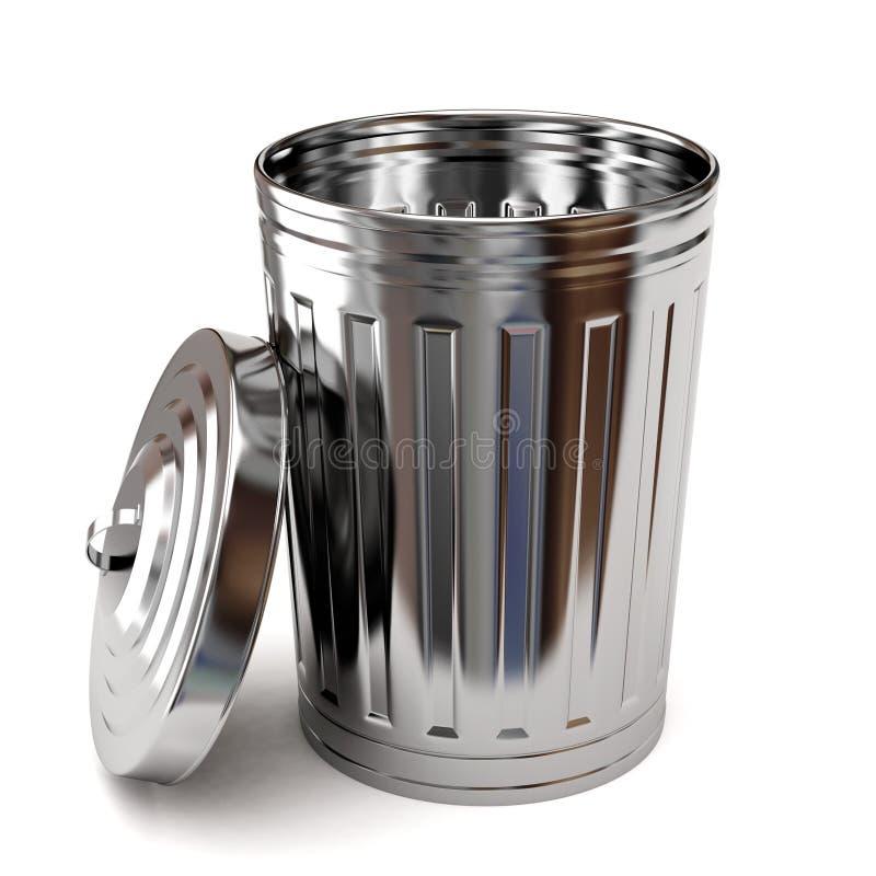 De vuilnisbak van het staal stock illustratie