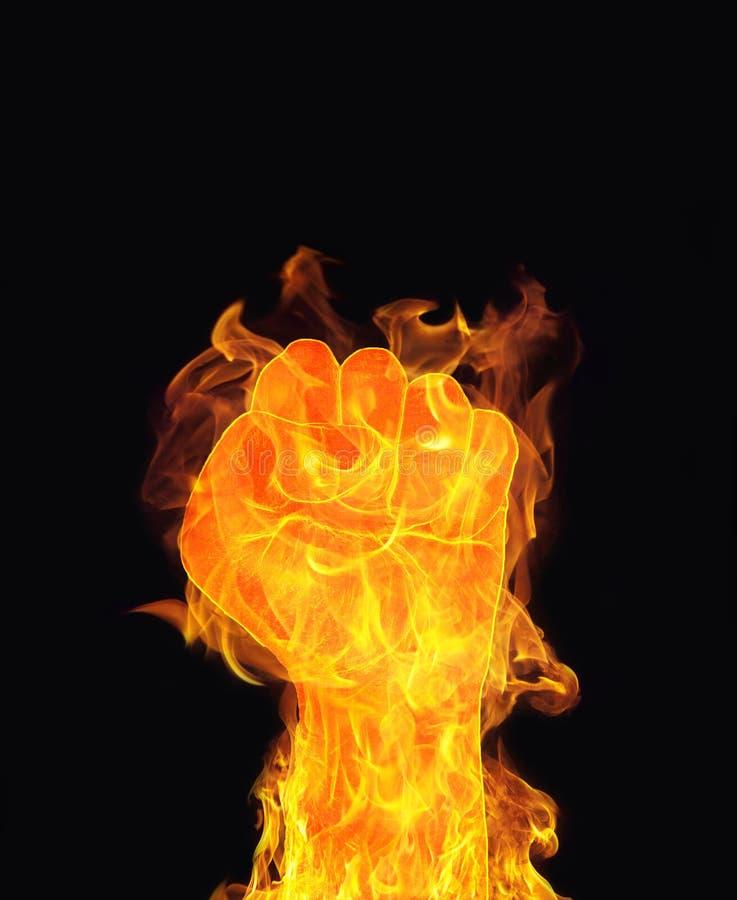 De vuist van de vuurhaardbrand stock fotografie