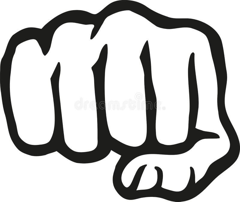 De vuist van de ponsenhand stock illustratie