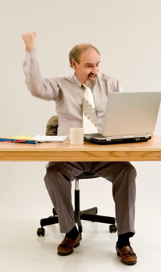 De vuistpomp van de zakenman met motieonduidelijk beeld royalty-vrije stock afbeelding