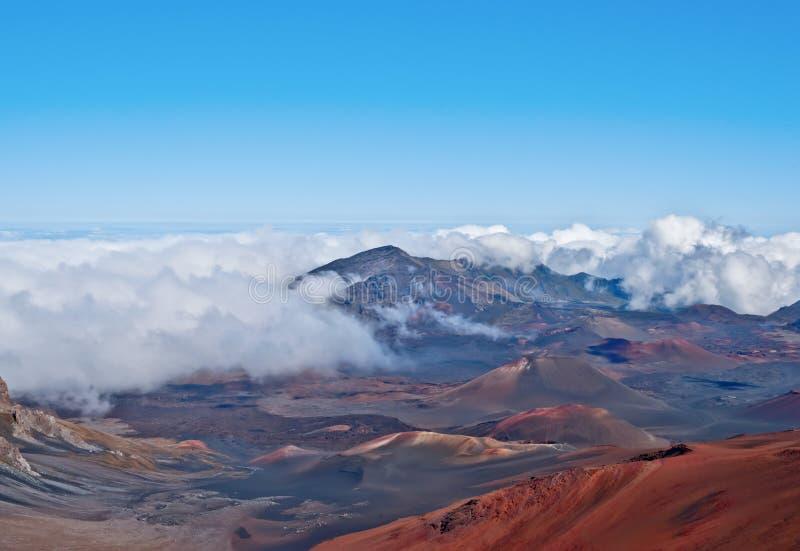 De Vulkaan en Krater Maui Hawaï van Haleakala stock afbeeldingen