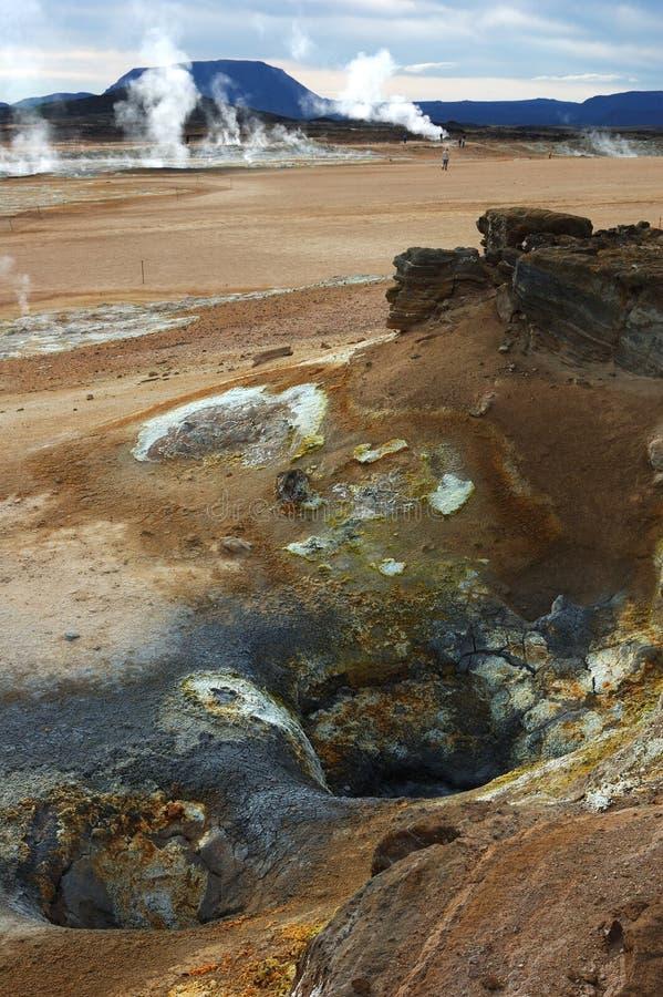 De vulkaan in IJsland stock afbeeldingen