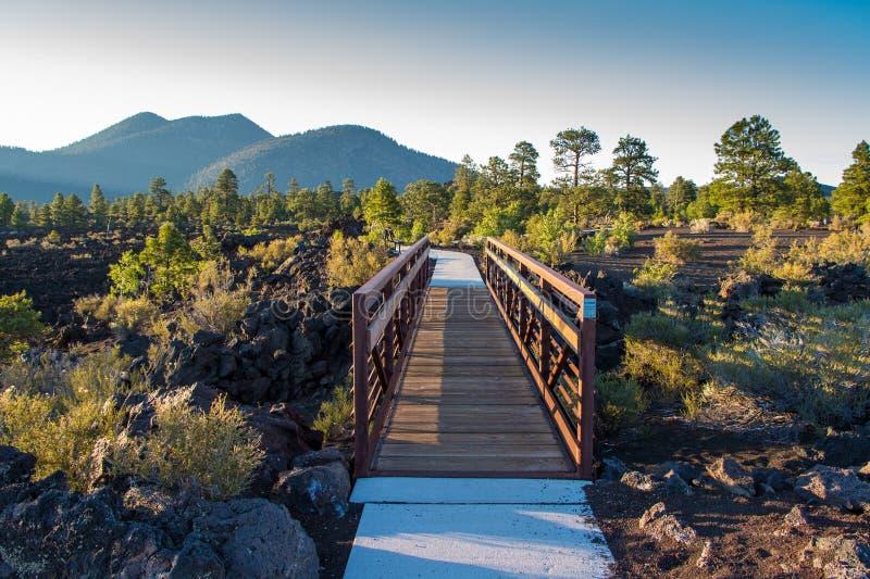De Vulkaan van de zonsondergangkrater, Arizona royalty-vrije stock afbeelding