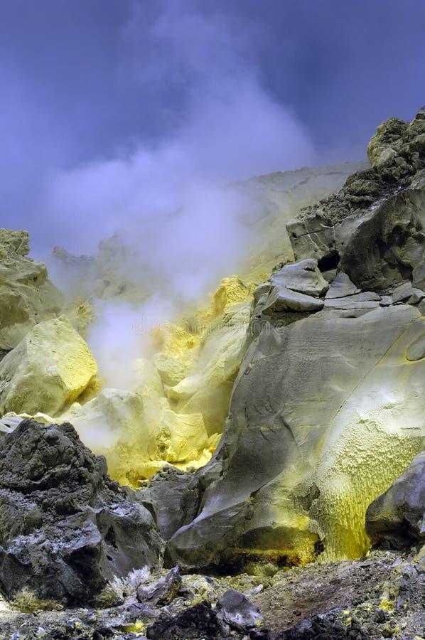De Vulkaan van de Zwavel van de Galapagos royalty-vrije stock afbeeldingen