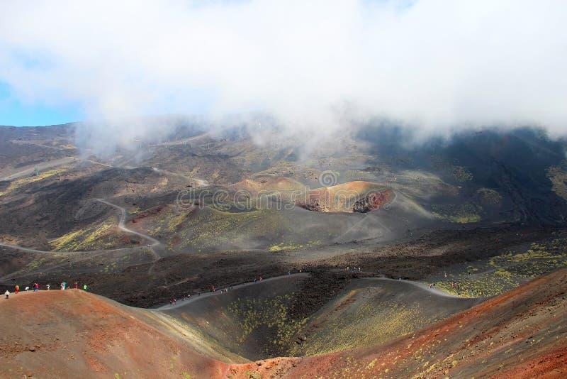 De vulkaan van Etna, Sicilië, Italië royalty-vrije stock afbeelding