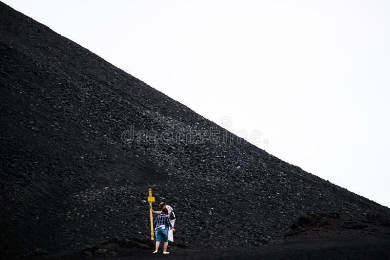 De vulkaan van Etna, Sicili?, Itali? royalty-vrije stock foto