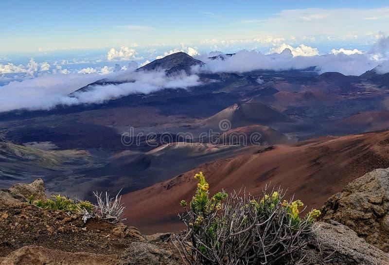 De vulkaan van Haleakala in Maui stock foto