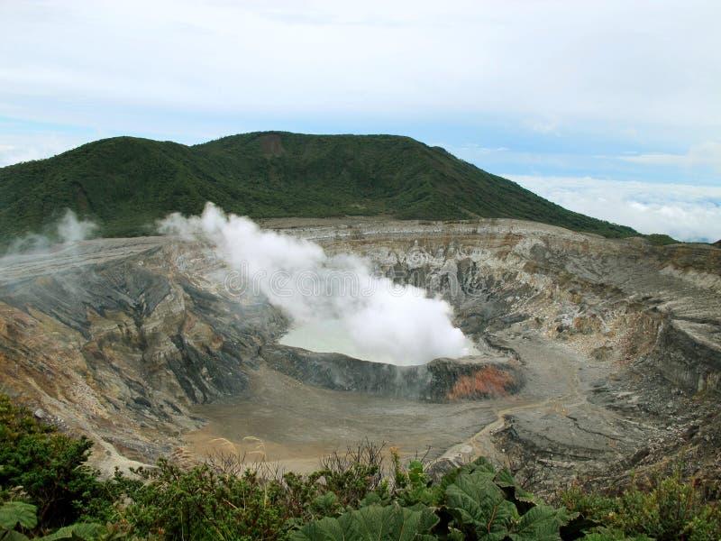 De vulkaan van Irazu royalty-vrije stock foto