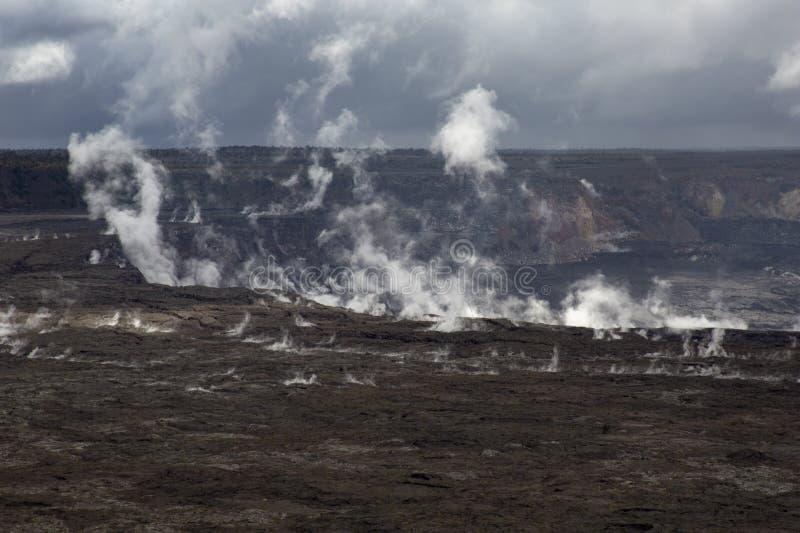 De vulkaan van Kilauea stock fotografie