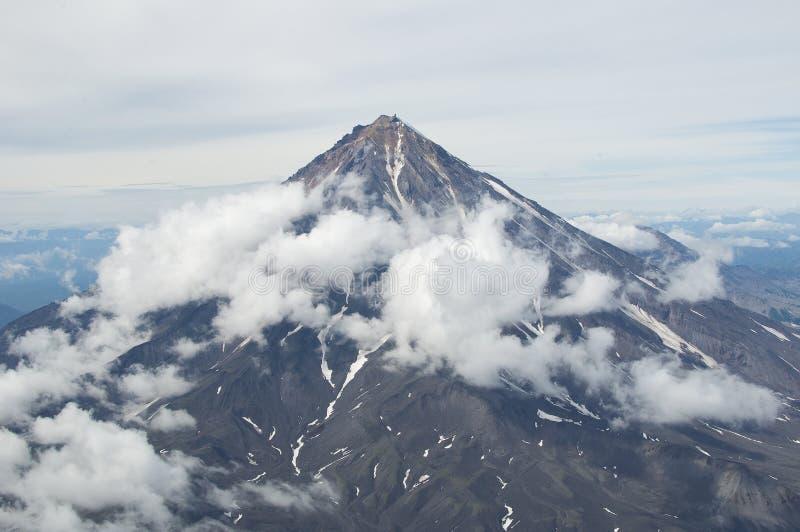 De Vulkaan van Koryak stock foto