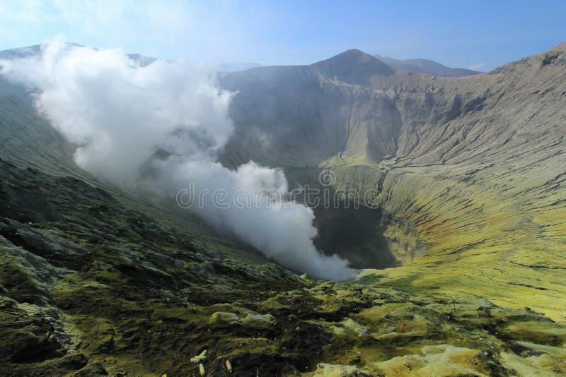 De vulkaan van kraterbromo stock afbeeldingen