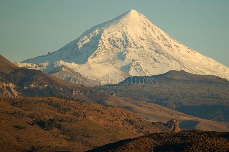 De Vulkaan van Lanin   stock afbeeldingen