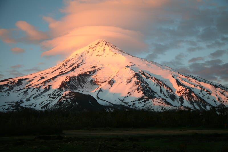 De Vulkaan van Lanin, Patagonië royalty-vrije stock fotografie