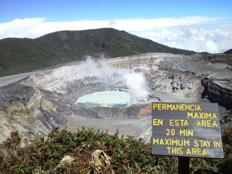 De Vulkaan van Poas, Costa Rica royalty-vrije stock afbeelding