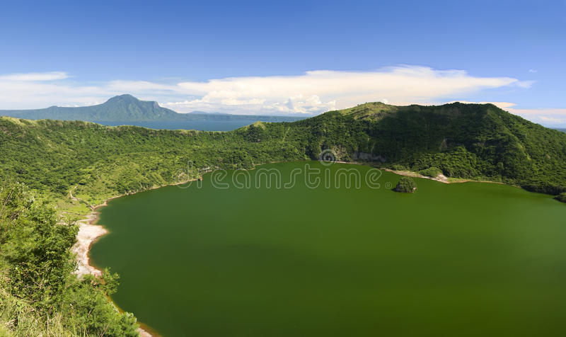 De vulkaan voerman tagaytay Filippijnen van Taal stock foto's