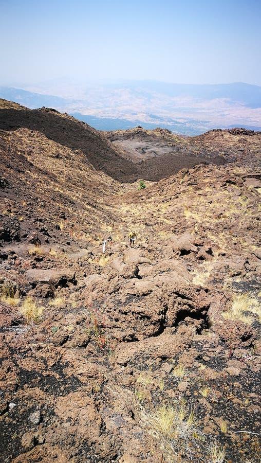 De vulkaankant van Etna stock foto