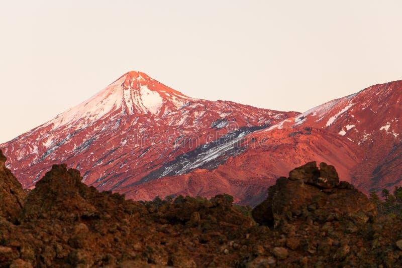 De vulkaanlandschap van Tenerife - Teide- stock foto