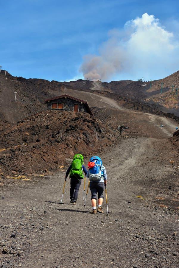 De vulkanen van Etna royalty-vrije stock foto