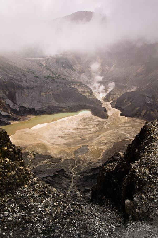 De Vulkanische Krater van ?Tangkuban Perahu? stock fotografie