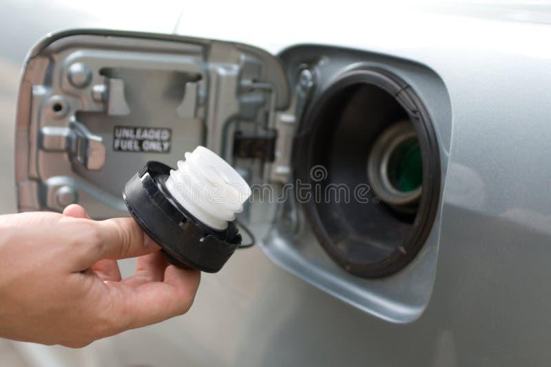De vullerGLB van de brandstof in mannelijke hand royalty-vrije stock afbeelding