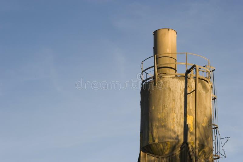 De vultrechter van de de installatieLading van het cement. royalty-vrije stock foto's