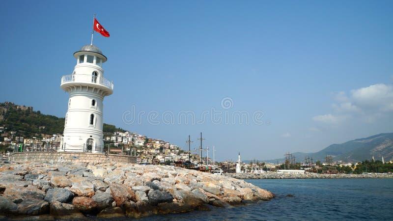 De Vuurtoren in de fotomalplaatje van Turkije royalty-vrije stock afbeelding