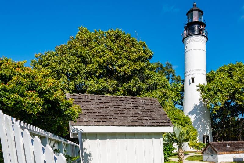 De Vuurtoren en de gronden van Key West stock foto's