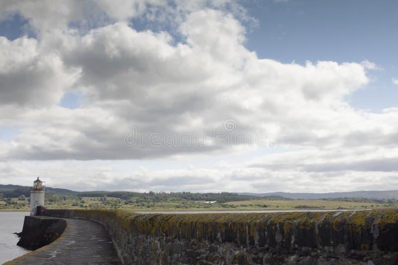 De vuurtoren in Loch Fyne stock fotografie