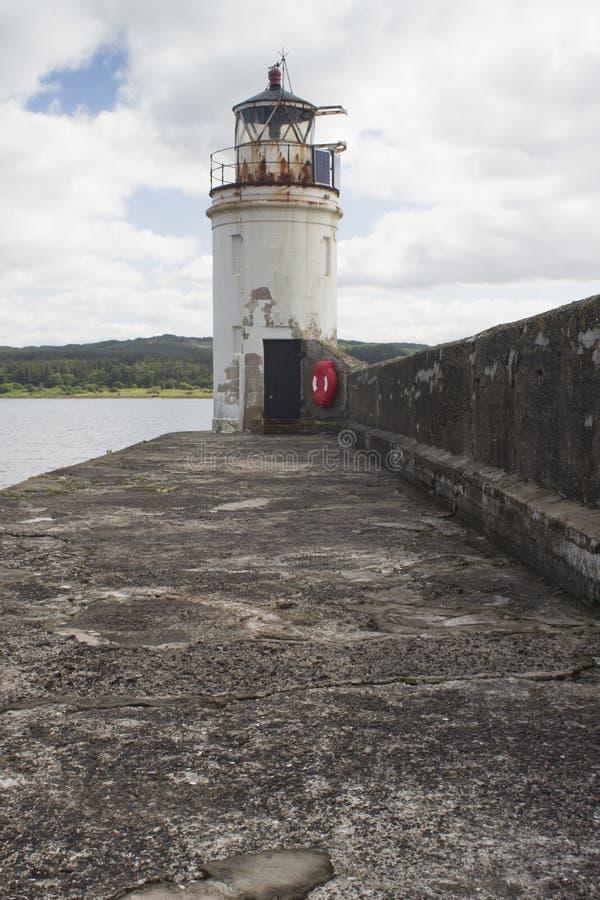 De vuurtoren in Loch Fyne royalty-vrije stock foto