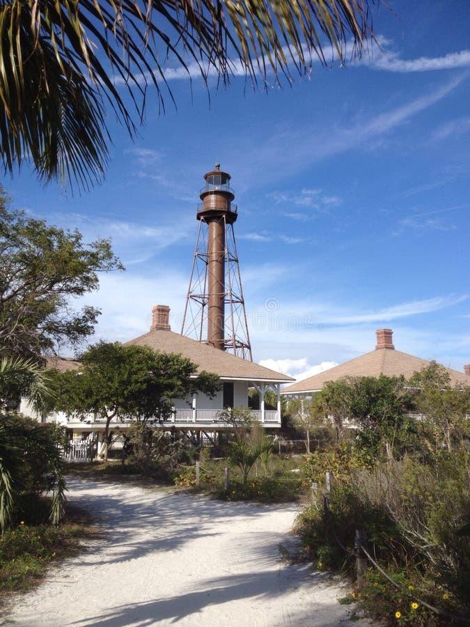 De Vuurtoren van het Sanibeleiland, Florida, de V.S. stock foto