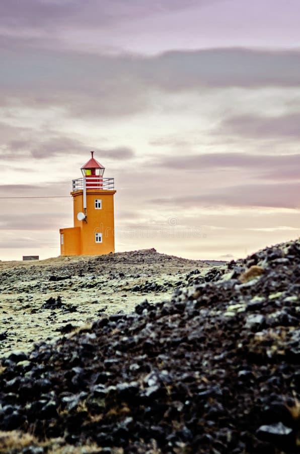 De vuurtoren van IJsland royalty-vrije stock afbeeldingen