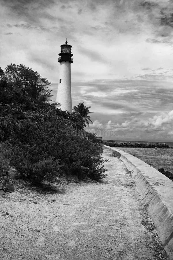 De Vuurtoren van kaapflorida in Bill Baggs Florida Park stock afbeeldingen