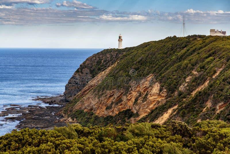 De Vuurtoren van kaapotway, Grote Oceaanweg, Victoria, Australi? royalty-vrije stock foto's