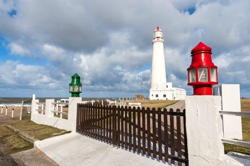 De vuurtoren van La Paloma, Uruguay royalty-vrije stock afbeelding