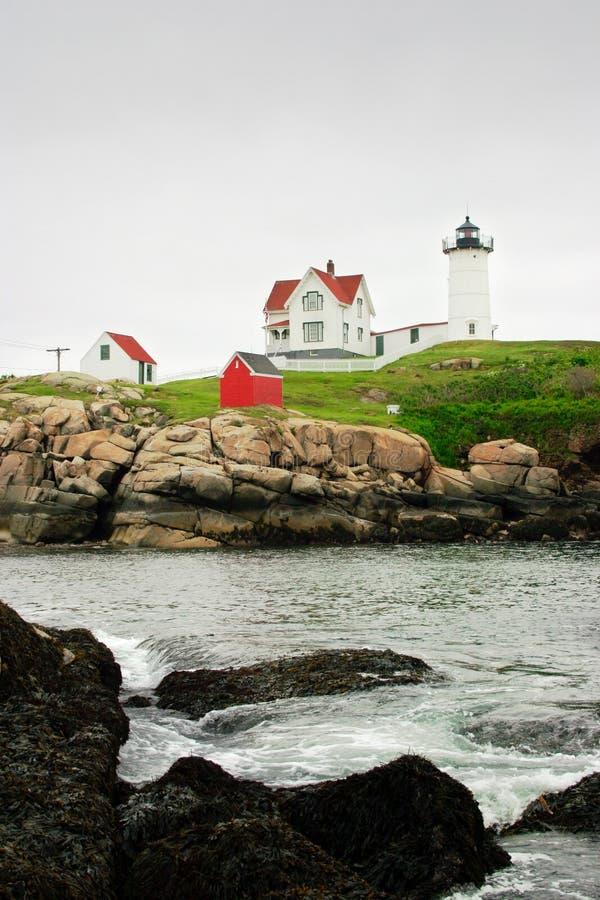 De Vuurtoren van kaapneddick, Maine royalty-vrije stock foto