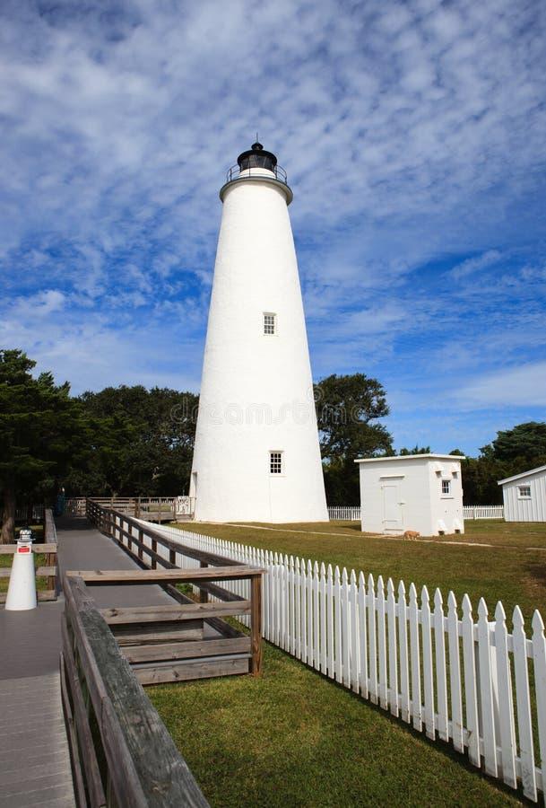 De Vuurtoren van Ocracoke stock afbeeldingen